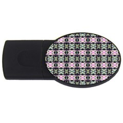 Colorful Pixelation Repeat Pattern Usb Flash Drive Oval (4 Gb) by Nexatart