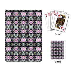 Colorful Pixelation Repeat Pattern Playing Card by Nexatart