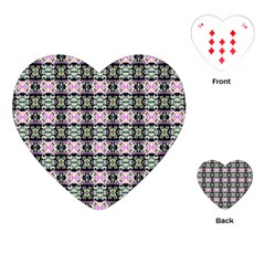 Colorful Pixelation Repeat Pattern Playing Cards (heart)  by Nexatart
