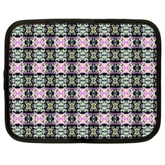 Colorful Pixelation Repeat Pattern Netbook Case (large) by Nexatart