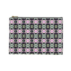 Colorful Pixelation Repeat Pattern Cosmetic Bag (large)  by Nexatart