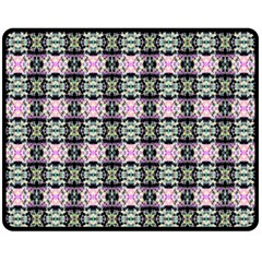Colorful Pixelation Repeat Pattern Fleece Blanket (medium)  by Nexatart