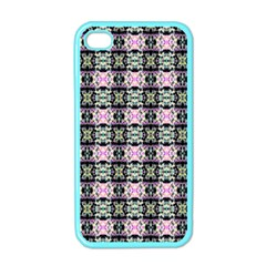 Colorful Pixelation Repeat Pattern Apple Iphone 4 Case (color) by Nexatart