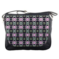 Colorful Pixelation Repeat Pattern Messenger Bags by Nexatart