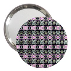 Colorful Pixelation Repeat Pattern 3  Handbag Mirrors