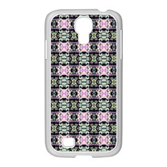 Colorful Pixelation Repeat Pattern Samsung Galaxy S4 I9500/ I9505 Case (white) by Nexatart
