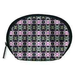 Colorful Pixelation Repeat Pattern Accessory Pouches (medium)  by Nexatart