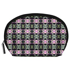 Colorful Pixelation Repeat Pattern Accessory Pouches (large)  by Nexatart