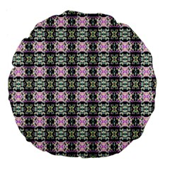 Colorful Pixelation Repeat Pattern Large 18  Premium Flano Round Cushions by Nexatart