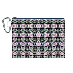Colorful Pixelation Repeat Pattern Canvas Cosmetic Bag (l) by Nexatart