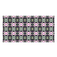 Colorful Pixelation Repeat Pattern Satin Shawl by Nexatart