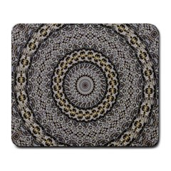 Celestial Pinwheel Of Pattern Texture And Abstract Shapes N Brown Large Mousepads by Nexatart