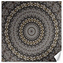 Celestial Pinwheel Of Pattern Texture And Abstract Shapes N Brown Canvas 12  X 12   by Nexatart
