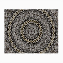 Celestial Pinwheel Of Pattern Texture And Abstract Shapes N Brown Small Glasses Cloth (2 Side) by Nexatart