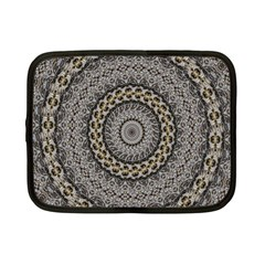 Celestial Pinwheel Of Pattern Texture And Abstract Shapes N Brown Netbook Case (small)  by Nexatart