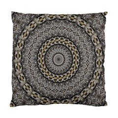 Celestial Pinwheel Of Pattern Texture And Abstract Shapes N Brown Standard Cushion Case (two Sides) by Nexatart