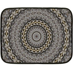 Celestial Pinwheel Of Pattern Texture And Abstract Shapes N Brown Double Sided Fleece Blanket (mini)