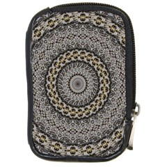 Celestial Pinwheel Of Pattern Texture And Abstract Shapes N Brown Compact Camera Cases by Nexatart