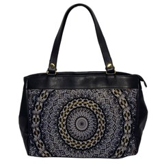 Celestial Pinwheel Of Pattern Texture And Abstract Shapes N Brown Office Handbags