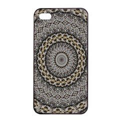 Celestial Pinwheel Of Pattern Texture And Abstract Shapes N Brown Apple Iphone 4/4s Seamless Case (black) by Nexatart