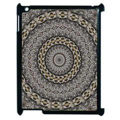 Celestial Pinwheel Of Pattern Texture And Abstract Shapes N Brown Apple Ipad 2 Case (black) by Nexatart