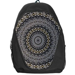Celestial Pinwheel Of Pattern Texture And Abstract Shapes N Brown Backpack Bag