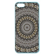 Celestial Pinwheel Of Pattern Texture And Abstract Shapes N Brown Apple Seamless Iphone 5 Case (color)