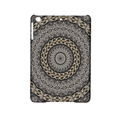 Celestial Pinwheel Of Pattern Texture And Abstract Shapes N Brown Ipad Mini 2 Hardshell Cases by Nexatart