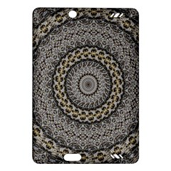 Celestial Pinwheel Of Pattern Texture And Abstract Shapes N Brown Amazon Kindle Fire Hd (2013) Hardshell Case by Nexatart