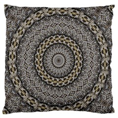 Celestial Pinwheel Of Pattern Texture And Abstract Shapes N Brown Standard Flano Cushion Case (one Side)