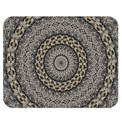 Celestial Pinwheel Of Pattern Texture And Abstract Shapes N Brown Double Sided Flano Blanket (medium)  by Nexatart