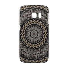 Celestial Pinwheel Of Pattern Texture And Abstract Shapes N Brown Galaxy S6 Edge by Nexatart