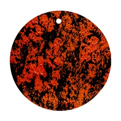 Abstract Orange Background Ornament (round) by Nexatart