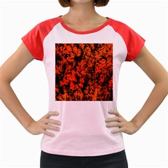 Abstract Orange Background Women s Cap Sleeve T Shirt