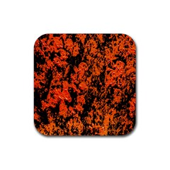 Abstract Orange Background Rubber Square Coaster (4 Pack)  by Nexatart