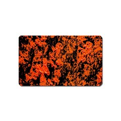 Abstract Orange Background Magnet (name Card) by Nexatart