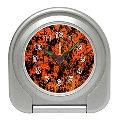 Abstract Orange Background Travel Alarm Clocks by Nexatart