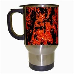 Abstract Orange Background Travel Mugs (white)