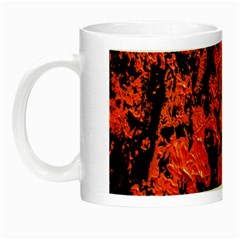 Abstract Orange Background Night Luminous Mugs by Nexatart