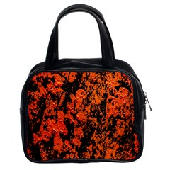 Abstract Orange Background Classic Handbags (2 Sides) by Nexatart