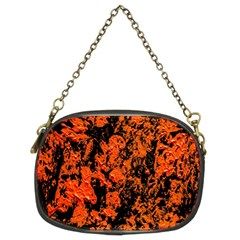 Abstract Orange Background Chain Purses (two Sides)