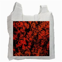 Abstract Orange Background Recycle Bag (one Side) by Nexatart