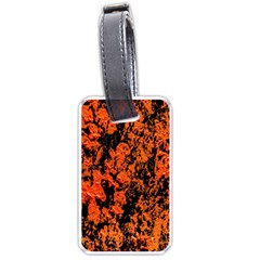 Abstract Orange Background Luggage Tags (one Side)  by Nexatart