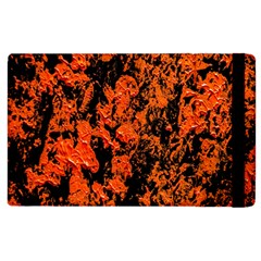Abstract Orange Background Apple Ipad 3/4 Flip Case by Nexatart
