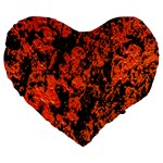 Abstract Orange Background Large 19  Premium Heart Shape Cushions Front