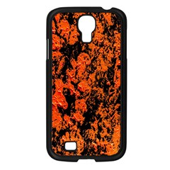 Abstract Orange Background Samsung Galaxy S4 I9500/ I9505 Case (black) by Nexatart