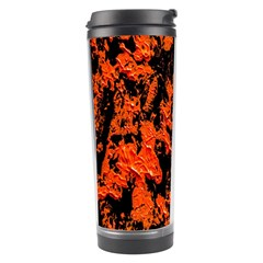 Abstract Orange Background Travel Tumbler