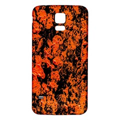 Abstract Orange Background Samsung Galaxy S5 Back Case (white) by Nexatart