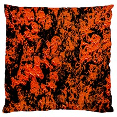 Abstract Orange Background Large Flano Cushion Case (two Sides) by Nexatart