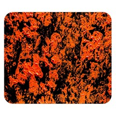 Abstract Orange Background Double Sided Flano Blanket (small)